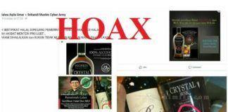 Foto: Viral gambar botol minuman keras jenis whiskey dan anggur merah dengan label 'halal' di media sosial.
