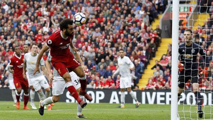 Mohamed Salah gagal mencetak gol meski terus menekan lini pertahanan Manchester United. (Foto: REUTERS/Phil Noble)