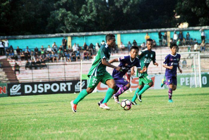 Foto: PSMS Medan saat melawan Persita Tangerang di Stadion Teladan Medan baru-baru ini.