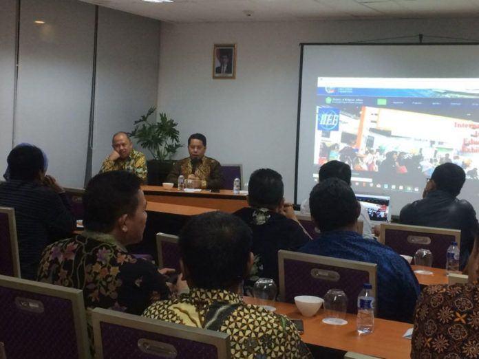 Foto: Kamaruddin Amin Direktur Jenderal Pendidikan Islam, saat membahas Pameran Pendidikan Islam Internasional pada Focus Group Discation PTKI di ICE BSD Serpong Tagerang Selatan.