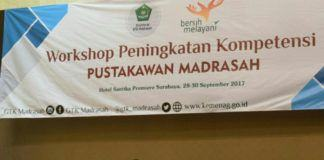 Foto: Direktur GTK Madrasah, Suyitno buka Workshop Peningkatan Kompetensi Pustakawan Madrasah.