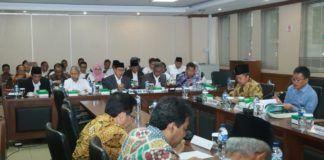 Foto: Raker Menteri Agama RI dengan Komite III DPD RI membahas evaluasi penyelenggaraan haji 2017 dan BPJPH.