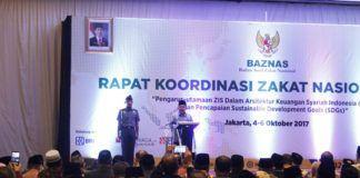 Foto: Wakil Presiden Muhammad Jusuf Kalla (JK) membuka Rapat Koordinasi Zakat Nasional 2017, Badan Amil Zakat Nasional (Baznas) di Ancol Jakarta.