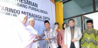 Foto: Plt Direktur Buna Umrah dan Haji Khusus Kemenag Muhajirin Yanis saat menghadiri pembukaan kantor cabang salah satu penyelenggara Ibadah Umrah, di Purbalingga Jawa Tengah.