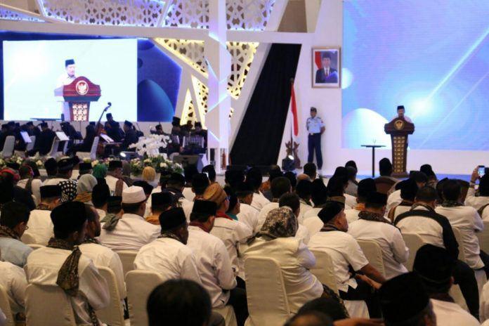 Foto: Wapres memberikan sambutan pada acara ISEF 2017 di Surabaya, Kamis (9/11).