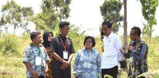 Foto: Presiden Jokowi saat meninjau lokasi dalam acara Perhutanan Sosial untuk Pemerataan Ekonomi, di Desa Brani Wetan, Kecamatan Maron, Kabupaten Probolinggo, Jawa Timur, Kamis (2/11).