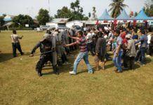 Polres Batubara melaksanakan simulasi pengamanan Pilkada yang dilaksanakan dilapangan Bola Kaki Lima Puluh.