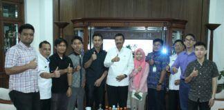 Gubernur Sumatera Utara Tengku Erry Nuradi saat menerimah panitia Scripta Research Festival 2018.