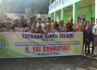 Gubernur Sumut Sambangi Yayasan Sinar Islami Bingai