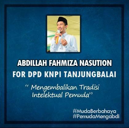 Rumah Peradaban Siap Menangkan Abdillah Fahmiza Nasution Pimpin KNPI Tanjungbalai