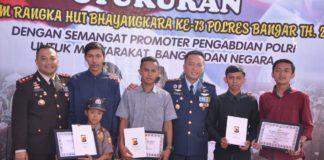 HUT Bhayangkara di Banjar, Polwan Cilik Jadi Pemenang Lomba