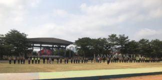 HUT Bhayangkara di Banjar, Personel Polres Latihan PBB