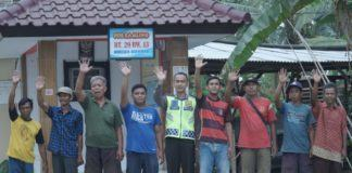 Personel Polres Banjar Hibahkan Tanah untuk Poskamling