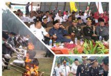 Polres Labuhanbatu Musnahkan Narkoba di HUT Bhayangkara