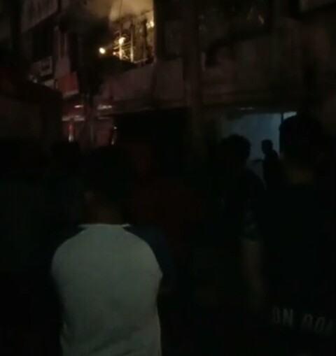 Ruko Terbakar di Stabat, 2 Jam Api Belum Padam