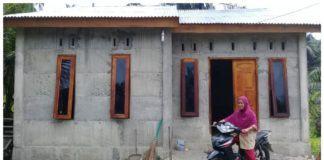 Warga Tanjung Pura, Ciptakan Inovasi Rumah Cor Anti Gempa