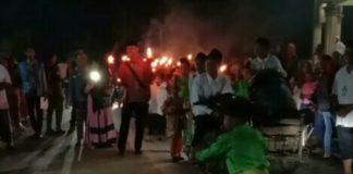BKPRMI Wampu, Ribuan Masyarakat Semarakkan Pawai Obor