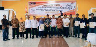 KPU Langkat, Tetapkan Anggota DPRD Terpilih Hasil Pileg 2019
