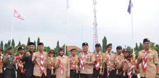 Hari Pramuka ke-58, Kapolres Banjar Hadiri Upacara Tingkat Kota Banjar
