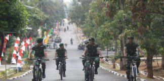 Yonif Raider 323/BP Kostrad, Sabtu Tanpa Kendaraan Bermotor di Lingkungan Asrama