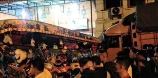 Labuhanbatu Selatan, Truck Fuso Mengalami Rem Blong