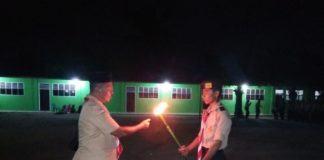 """Pawai Obor Pramuka Tanjung Tiram, """"Siap Sedia Membangun Keutuhan NKRI"""""""