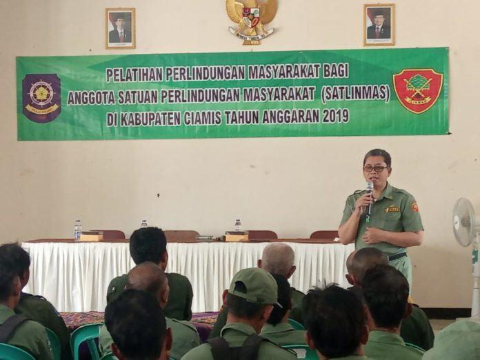 Satlinmas Kabupaten Ciamis, Ikuti Pelatihan Perlindungan Masyarakat