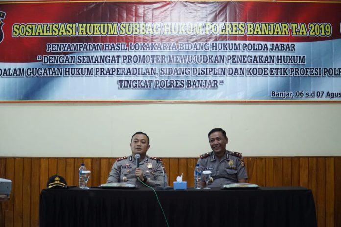 Polres Banjar, Adakan Kegiatan Sosialisasi Hukum Subbag Hukum