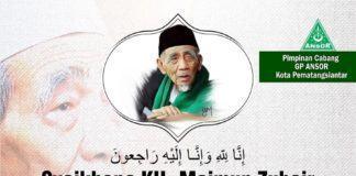 Ansor Pematangsiantar, Agendakan Tahlil & Doa untuk Almarhum KH Maimun Zubair