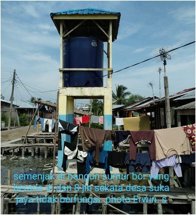 Warga Tanjung Tiram, Keluhkan Sumur Bor DD Tidak Berfungsi
