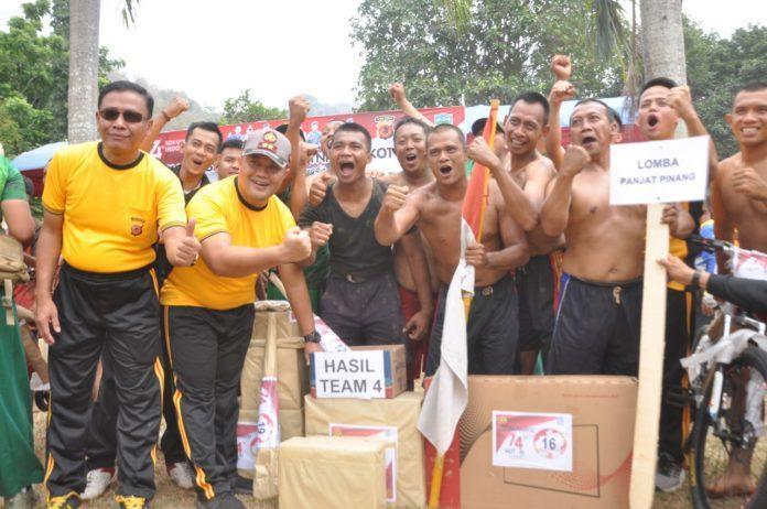 HUT RI 74, Polres Banjar Hiburan Bersama TNI dan Pemko