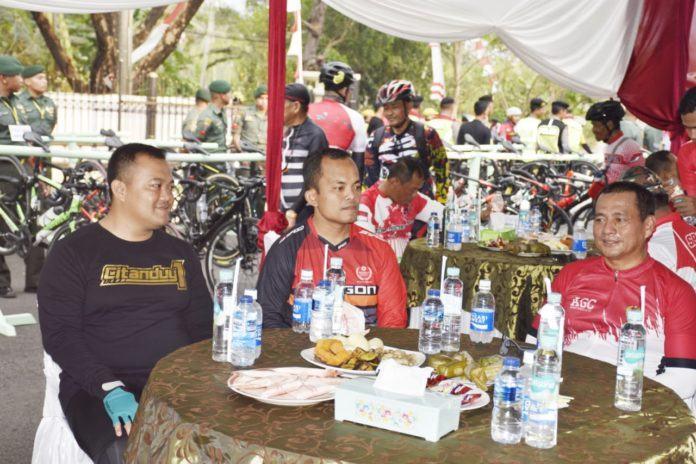 Gowes Bareng Kemerdekaan, Kapolres Banjar Sambut Baik serta Apresiasi