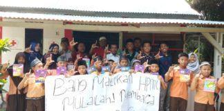 HMI Komisariat FDK UINSU, Donasikan Buku ke Taman Baca PMI Medan Denai