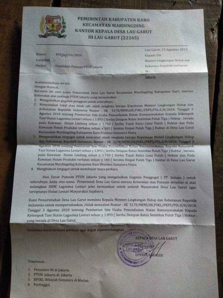 Desa Lau Garut - Karo, Warga Merasa Dikhianati Jokowi