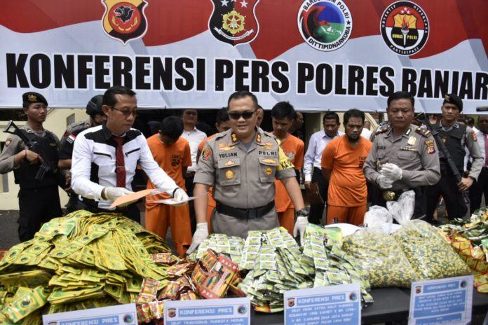 Polres Banjar, Amankan Obat Kuat Ben Puas