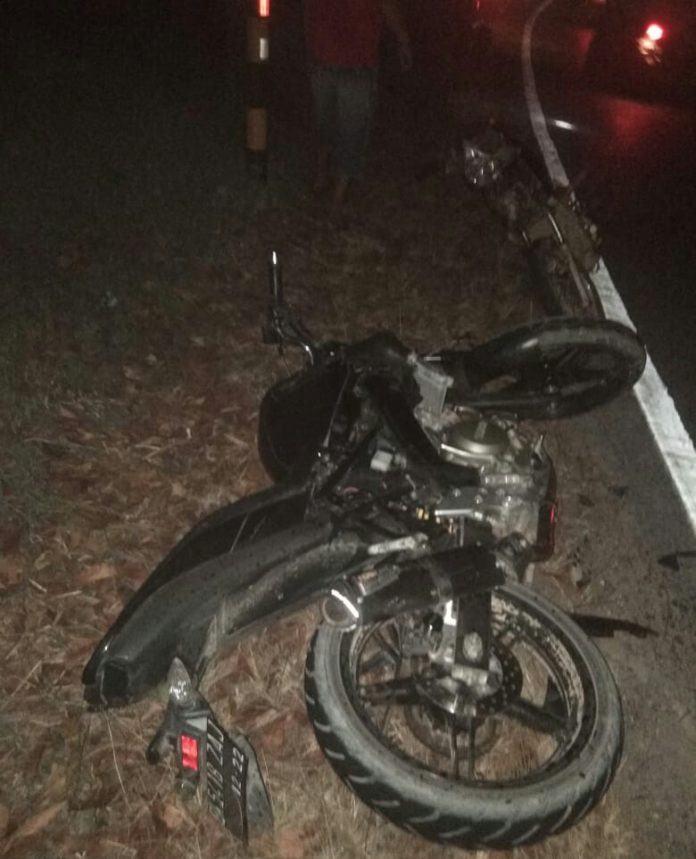 Kecelakaan di Kota Pinang, Kedua Pengendara Alami Luka-luka