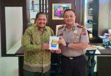 Kapolres Banjar, Bertemu Ketua Literasi