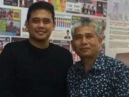 Walikota LSM LIRA Kota Medan Drs. Sam'an Lubis dan Bobby Nasution dalam satu kesempatan. (Fian)