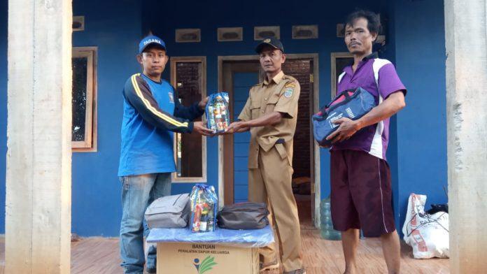 Dinas Sosial Kabupaten Ciamis, Berikan Bantuan Kepada Korban Kebakaran