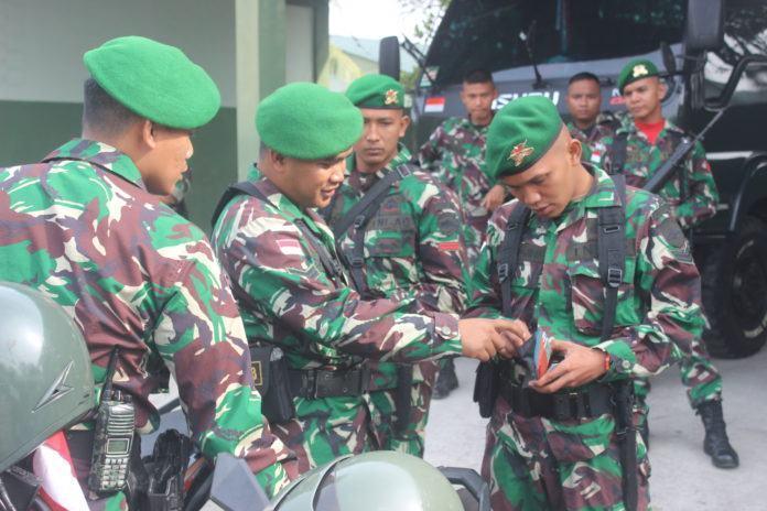Yonif 133/Yudha Sakti Melaksanakan Pengecekan Kendaraan Bermotor Prajurit