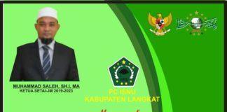 ISNU Langkat, Ucapkan Selamat Dilantik Ketua STAI - JM Tanjung Pura