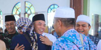 Plt Bupati Labuhanbatu, Sambut Kepulangan Jamaah Haji Kloter 10