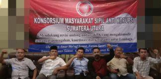Konsorsium Masyarakat Sipil Sumut, Mendukung Revisi UU KPK