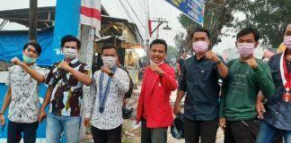 Satuan Organisasi Mahasiswa Labuhanbatu, Bagikan Masker dengan Pengguna Jalan