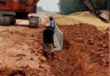 Pembangunan Rel Labuhanbatu, Dugaan Tidak Menggunakan Alas Lantai Pemasangan U Ditch