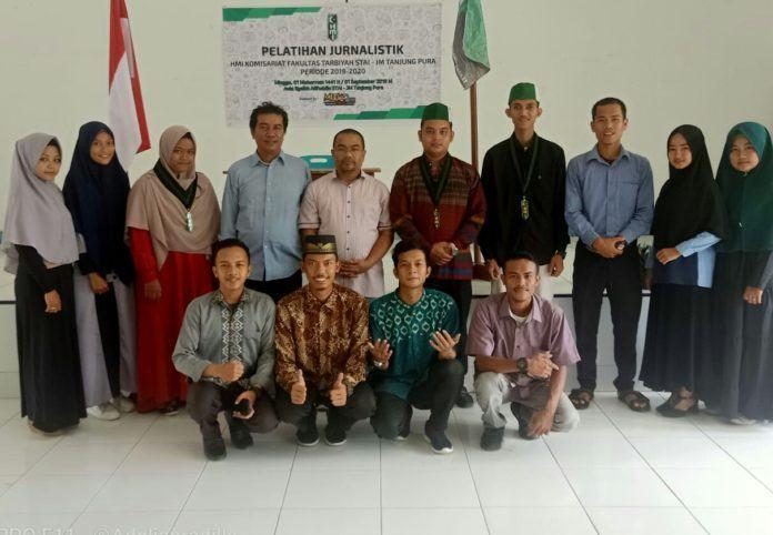 Muda News, Lakukan Pelatihan Jurnalistik kepada Anggota HMI STAI JM Tanjung Pura