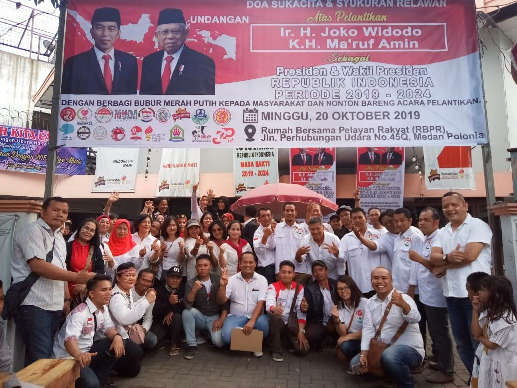 Relawan Jokowi-Ma'ruf, Laksanakan Doa dan Syukuran Berlangsung Meriah