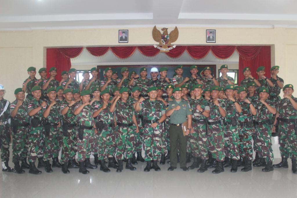 Danyonif 133/YS, Pimpin Upacara Pelepasan Pindah Satuan