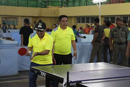 Bupati Labuhanbatu, Buka Tournament Tenis Meja Bupati Cup Ke-VII 2019