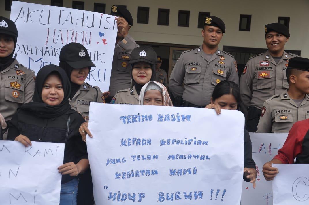 Aksi Buruh Banjar, Tolak RKUHP dan Kenaikan BPJS Kesehatan